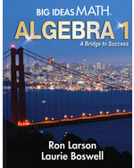 Big Ideas Math: A Bridge to Success Algebra 1, Student Edition – NGL