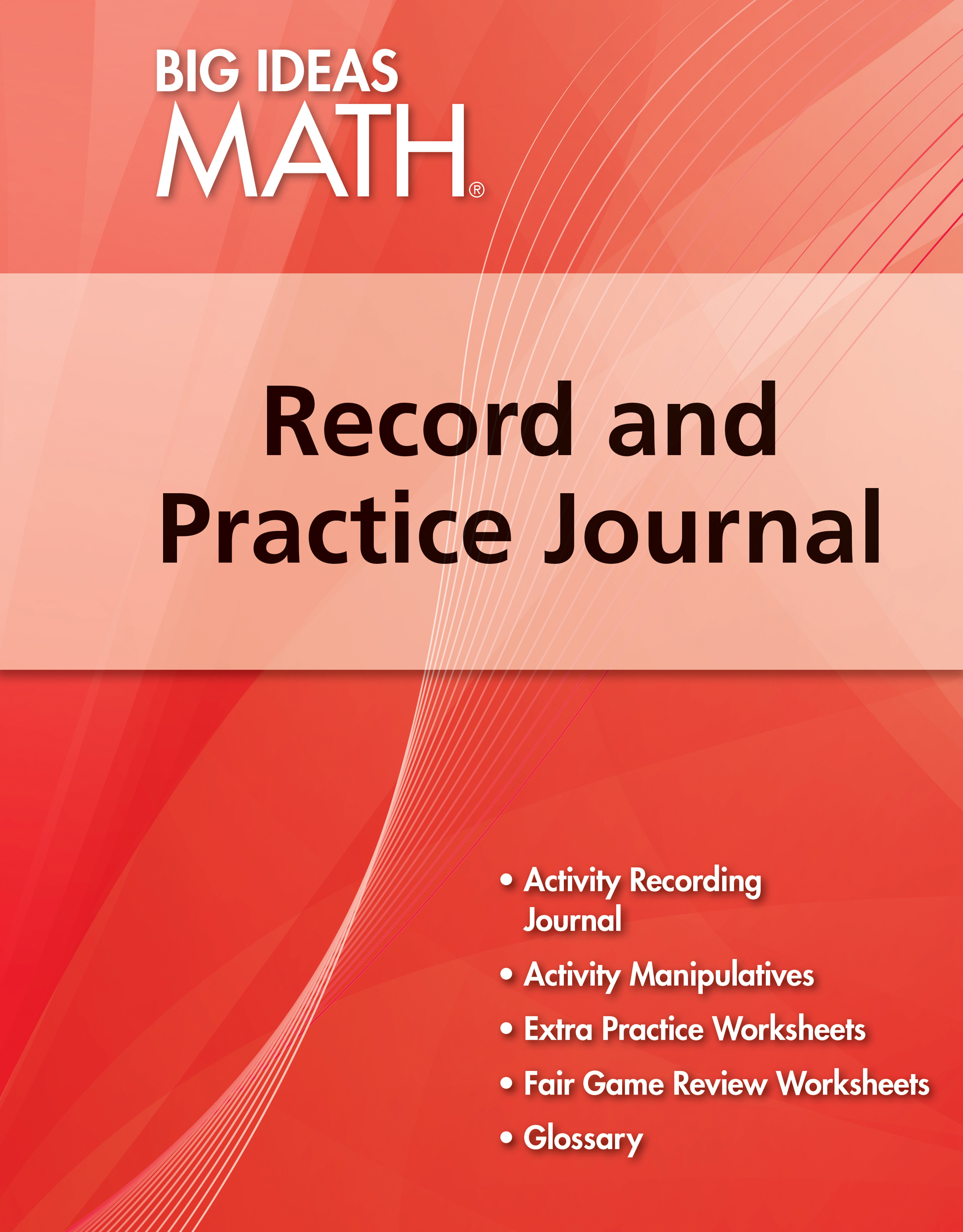 Big Ideas Math Red, Record and Practice Journal (1 year