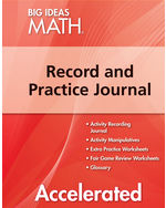 Big Ideas Math Red Accelerated, Record and Practice Journal (1 year ...