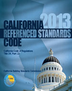 2013 California Referenced Standards Code, Title 24 Part 12