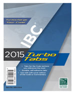 2015 International Building Code® Turbo Tabs for Paperbound Edition