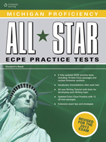 Michigan Proficiency All Star ECPE Practice Tests Student Book & Glossary Pack