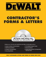 DEWALT® Contractor's Forms & Letters