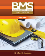 Building Math Skills Online Printed Access Card for Construction
