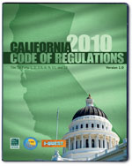 2010 California Codes, Title 24 CD-ROM Single User