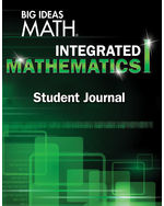 big ideas math integrated mathematics i, student journal (1 year
