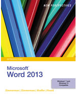 New Perspectives on Microsoft® Word 2013, Introductory
