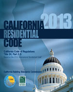 2013 California Residential Code, Title 24 Part 2.5